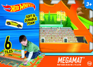 TCG spēļu paklājiņš ar transportlīdzekļu celiņiem Hot Wheels 6-piece Tile Mega Mat, 30746 30746