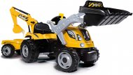 SMOBY traktors Builder Max dzeltens, 7600710301 7600710301