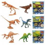 MEGASAUR MIGHTY zinātniskie piedzīvojumi dinozauru skeleta komplekts 2IN1, 3 asst., 16944C 16944C