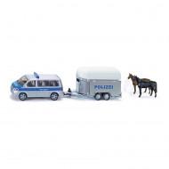SIKU automašīna ar zirgu pārvadājamo piekabi 2310
