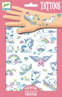 DJECO Body Art Taetovējumi - Unicorns, DJ09575 DJ09575