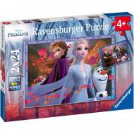RAVENSBURGER puzle Frozen 2 Frosty adventures,  2x24d., 5010 5010