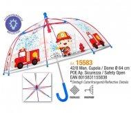 PERLETTI transparent umbrella Fireman 42/8, 15583 15583