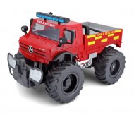 MAISTO TECH 1:16 automašīnas modelis Mercedes-Benz Unimog U5000, ugunsdzēsēju modelis, 82302 82302