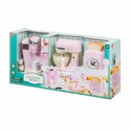 PLAYGO virtuves rīki rozā(kafijas automāts, mikseris, tosteris), 38036 38336