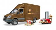 BRUDER mikroautobus UPS ar šoferi un aksesuāriem, 02538 02538