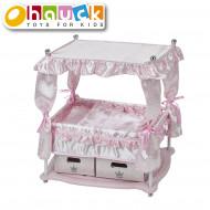 HAUCK leļļu gulta Princess, rozā, D90416 D90416