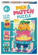 RAVENSBURGER puzle Mix-up Monsters, 3x24gab., 05135 05135