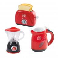 PLAYGO virtuves rīki sarkani (katls vārīšanai, luksusa katls, mikseris, tosteris), 38266 38266