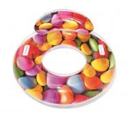 BESTWAY piepūšamais peldriņķis Candy Delight 1.18m x 1.17m, 43186 43186