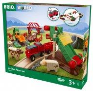 BRIO vilcienu komplekts Dzīvnieku Ferma, 33984 33984