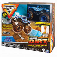 MONSTER JAM kinētiskās smiltis ar automašīnu, komplekts Kinetic Dirt Starter, 6045198 6045198