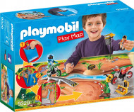 PLAYMOBIL Motokrosa rotaļu karte, 9329 9329