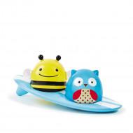 SKIP HOP Zoo sērfotāji ar gaismiņām, vannas rotaļlieta, 235356 235356
