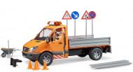 BRUDER kravas auto, stādnieks + aksesuāri, 02537 02537