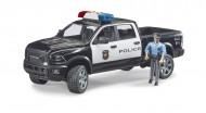 BRUDER RAM 2500 Policijas kravas automašīna ar policistu, 02505 02505
