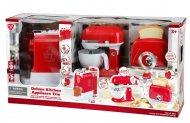 PLAYGO luksus virtuves ierīces - kafijas automāts, mikseris, tosteris, sarkans, 38116 38116