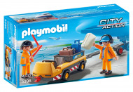 PLAYMOBIL CITY ACTION Aircraft Tug with Ground Crew, 5396 5396