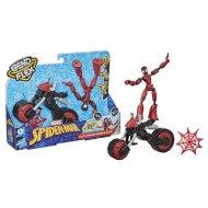 SPIDERMAN figūra ar motociklu Bend and Flex, F02365L0 F02365L0