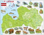 LARSEN puzzle Latvijas dabas karte, K46 K46
