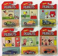 HOT WHEELS automašīnas modelīši - Peanuts DWF03