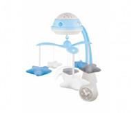 CANPOL BABIES muzikālais karuselis ar projektoru 3in1, zils, 75/100_blu 75/100_blu