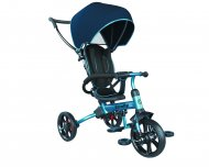 YVOLUTION trīsritenis Strolly Bike, grey/blue, 101168 101168