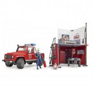 BRUDER ugunsdzēsēju depo ar Land Rover Defender un ugunsdzēsēju, 62701 62701