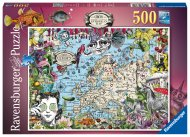 RAVENSBURGER puzle European Map Quirky Circus, 500gab., 16760 16760