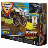 MONSTER JAM kinētiskās smiltis ar automašīnu, komplekts Dirt Deluxe, 6044986 6044986