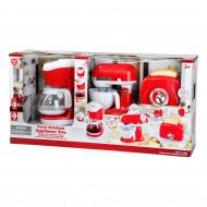 PLAYGO virtuves rīki sarkani(kafijas automāts, mikseris, tosteris), 38166 38166