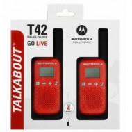 MOTOROLA rācijas Talkabout T42 Red 2 pcs., B4P00811RDKMAW B4P00811RDKMAW