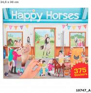 Uzlīmju grāmata Create Your Happy Horses, 10747 10747