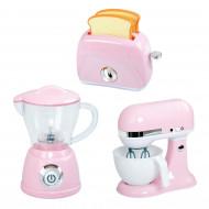 PLAYGO virtuves rīki rozā (blenderis, mikseris, tosteris), 38236 38236