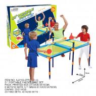 AO JIE saliekams galda teniss komplekts, 130x61x58.4cm, AJ2155-2PP AJ2155-2PP