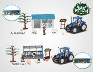 DIHUA TOYS ferma, rotaļu komplekts, Lielā ražas novākšana 1:32, DHPF30116A DHPF30116A