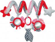 CANPOL BABIES spirālveida  rotaļlieta, gultiņai/ratiem Zig Zag, 68/063 68/063_red