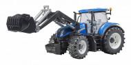 BRUDER Jaunais Holland T7.315 traktors ar priekšējo iekraušanas sistēmu, 3121 3121