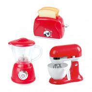 PLAYGO virtuves rīki sarkani (blenderis, mikseris, tosteris), 38216 38216