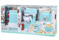 PLAYGO luksus virtuves ierīces - kafijas automāts, mikseris, tosteris, zils, 38126 38126