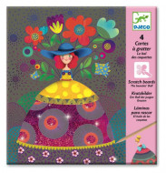 DJECO Scratch cards - The beauties' ball, DJ09725 DJ09725