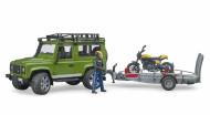 BRUDER Land Rover Defender piekabe ar Scrambler Ducati Full Throttle, 02589 02589
