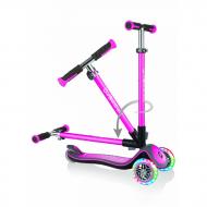 GLOBBER skrejritenis Elite Deluxe Lights, pink, 444-410 444-410