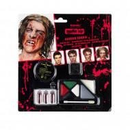 AMSCAN Halloween kosmētikas komplekts Horror Zombie, 9901251 9901251