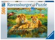 RAVENSBURGER puzle Lions in the Savannah, 500gab., 16584 16584
