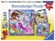 RAVENSBURGER puzle Apburošās nāras, 3x49 gab., 8063 8063
