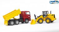 BRUDER kravas mašīna ar piekabi, 02752 02752
