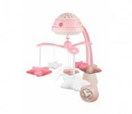 CANPOL BABIES muzikālais karuselis ar projektoru 3in1, roza, 75/100_pin 75/100_pin