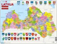 LARSEN puzzle Latvijas politiskā karte, A10 A10